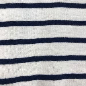 Lands' End Sweaters - Lands' End Supima Cotton Striped Cardigan Sweater
